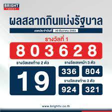 ตรวจหวย สลากกินแบ่งรัฐบาล 30 ธันวาคม 2563 รางวัลที่ 1 คือ 803628