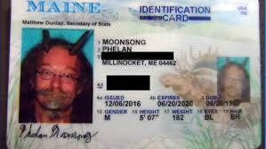 Photo Man Wear In Driver's Horns Maine License To Goat Allowed