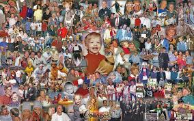 see a large 40th birthday photo collage gift
