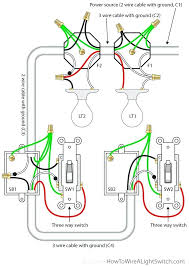 wiring can lights in series 3 way switch with power feed via the light multiple lights