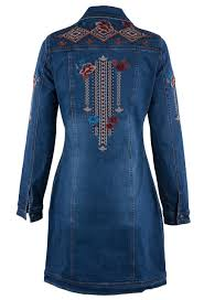 Cowgirl Up Jeans Size Chart Stetson Womens Embroidered Denim Jacket Dress