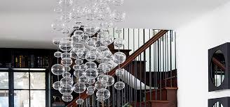 hanging orb strand glass ball chandelier