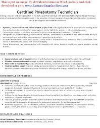 Free Phlebotomy Resume Examples Phlebotomy Resumes Free - rn duties for  resume