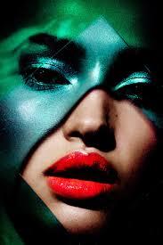 yadim makeup artist plexigl graphic colorful dramatic shadow beauty shoot with model camila costa