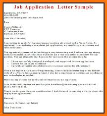 Free Examples Of Employment Cover Letters Sample Employment