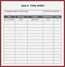 Download Daily Timesheet Template Free Printable Free Free