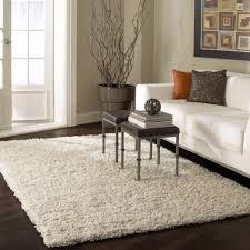 solid area rug 8x10 white handmade contemporary