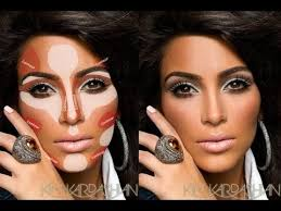 how to highlight and coutour face with powder makeup kim k contouring tutorial superprincessjo