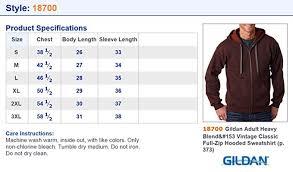 Gildan Mens Vintage Classic Full Zipper Hooded Sweatshirt