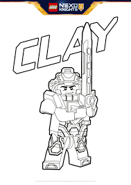 Small Picture Clay Coloring Page Colouring Page Activities NEXO KNIGHTS