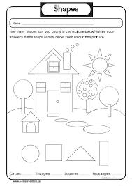 Free Worksheets » Shapes Worksheet Kindergarten - Free Math ...