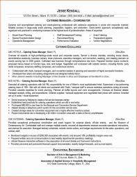 Catering Resume Resumes Server Samples Format Pdf Thomasbosscher