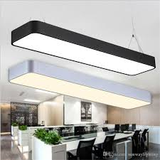 office ceiling lamps. Hanging Wire Aluminum Ceiling Lamp Office Bar Lights Rectangular Pendant Light Modern Led Chandelier Fixture For Home Fixtures Lamps E