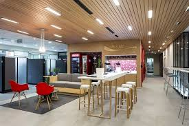 the coca cola chile corporate offices needed to improve and update the image of their refreshment centers on floors 10 and 11 they were partially closed