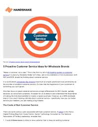 5 Proactive Customer Service Ideas For Wholesale Brands