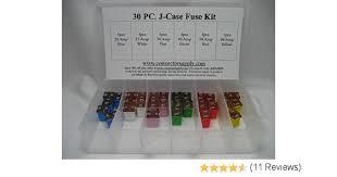 amazon com fuse boxes fuses accessories automotive automotive j case low profile fuse kit 30 piece
