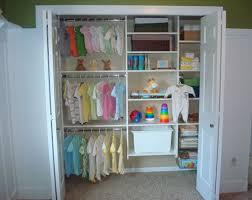 minimalist bedroom with small baby closet organization