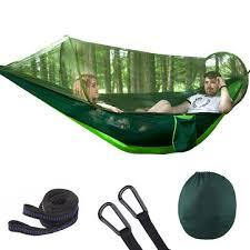 outdoor camping hammock mosquito net portable travel garden swing canvas stripe hang bed 250 120cm