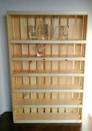 shot glass shelf wooden display case adjule shelves shot glass shelf