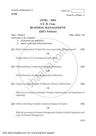 Business Paper Question Paper Bachelor Of Commerce B Com 2nd Year Sybcom