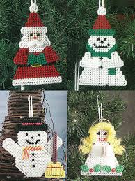 Free Plastic Canvas Christmas Patterns Adorable Holiday Plastic Canvas Patterns Festive Ornaments