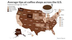 2018 Tipping Chart Heres How Generous We Are With Our Coffee Shop Tips In One