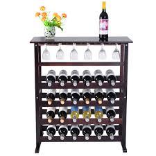 burdy wooden wine glass holder bottle rack for 24 bottles wine racks cabinets storage furniture