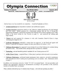 Olympia Hoa News Letters