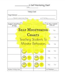 Standard Behavior Chart Self Monitoring Charts Are A Great Tool That Is Not Used