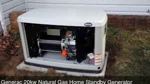 Generac 20kw Natural Gas Home Standby Generator YouTube