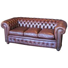 leather chesterfield tufted leather sofa