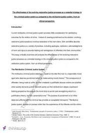 restorative justice word paragraph slss introduction  research essay