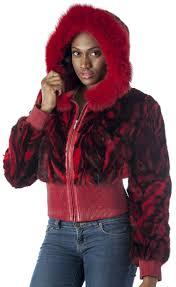 reed womens genuine mink fur er jacket