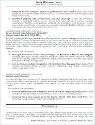 Construction Superintendent Resume Templates Construction Resume Example Construction Superintendent Resume Best