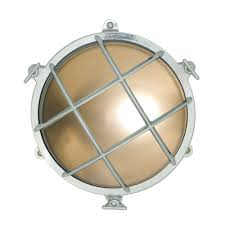 Chrome Bulkhead Light 7029 Brass Rounded Bulkhead In Chrome With Frosted Glass