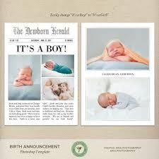 Birth Announcement In Newspaper 5x7 Newspaper Birth Announcement Template Newspaper Style Birth Story Photo Card Baby Boy Baby Girl Gender Neutral Twins B51