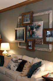 wall decoration ideas living room. Nouvelle Rustic Parlor Style Picture Frames Wall Decoration Ideas Living Room