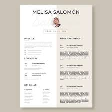 Creative Resume Templates For Microsoft Word Amazing Creative And Professional Resume Template In Microsoft Word Cv With