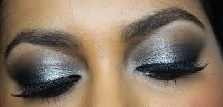 black silver eye makeup photo 1