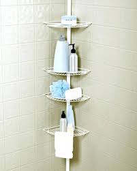shower tension rod caddy totally bath tension pole shower caddy assembly