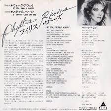 45cat - Phyllis Rhodes - If You Walk Away / Steppin' Out On Me - Alfa  International - Japan - ALI-756