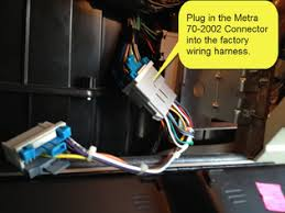 sha bypass factory amp crossover in 2002 chevy tahoe wiring harness insert the other end of the bypass adapter the metra 71 2002 connector into the factory amplifier don t worry you can t screw this