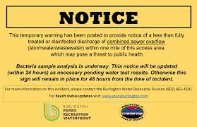 Water Quality Public Notices Burlington Parks Recreation