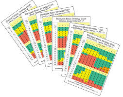 Blackjack Tips Chart Set Of Six Blackjack Strategy Cards Large Edition Kenneth