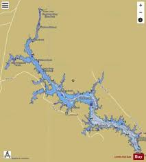 Wateree Lake Fishing Map Us_sc_01227425 Nautical