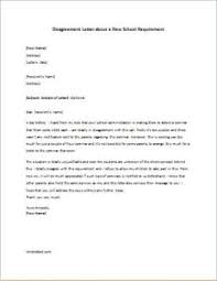 Disagreement Letter About A New School Requirement   Writeletter2.com