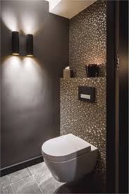 Badewanne Fliesen Luxus Idee Gäste Wc Mosaik Glimmer Dunkle Wände