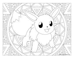 Eevee Coloring Pages Stunning Pokemon Color Print Eeveelution 7