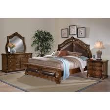 Queen Bed Bedroom Set Morocco Queen Bed Pecan Value City Furniture