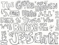 Small Picture Heaven Religious Doodles